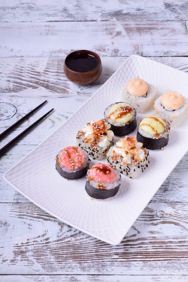 de sushi rolt assortiment stock fotografie