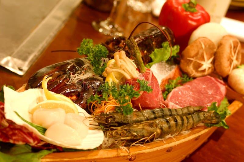 De Sushi van de boot stock fotografie