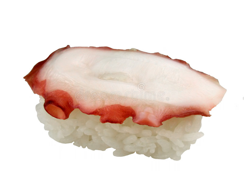De sushi van de octopus stock afbeelding
