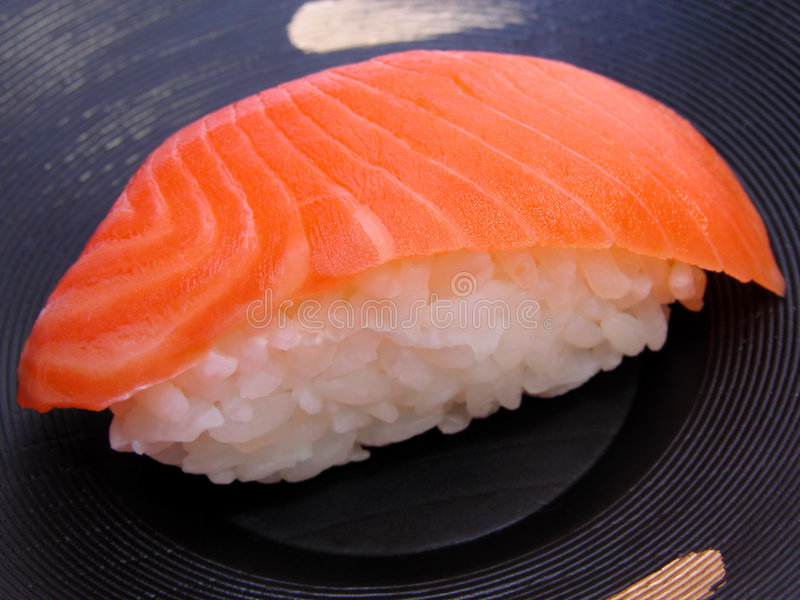 De sushi van de zalm royalty-vrije stock afbeeldingen