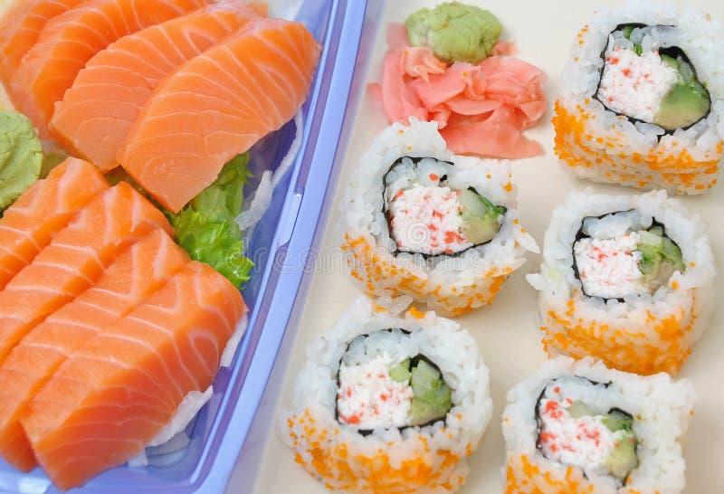 De Sushi van de zalm royalty-vrije stock fotografie