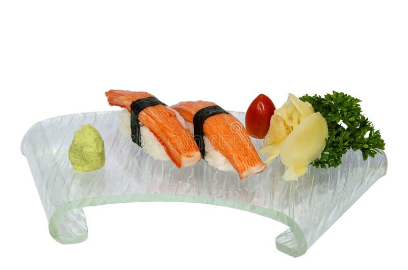 De sushi van Kani stock afbeeldingen
