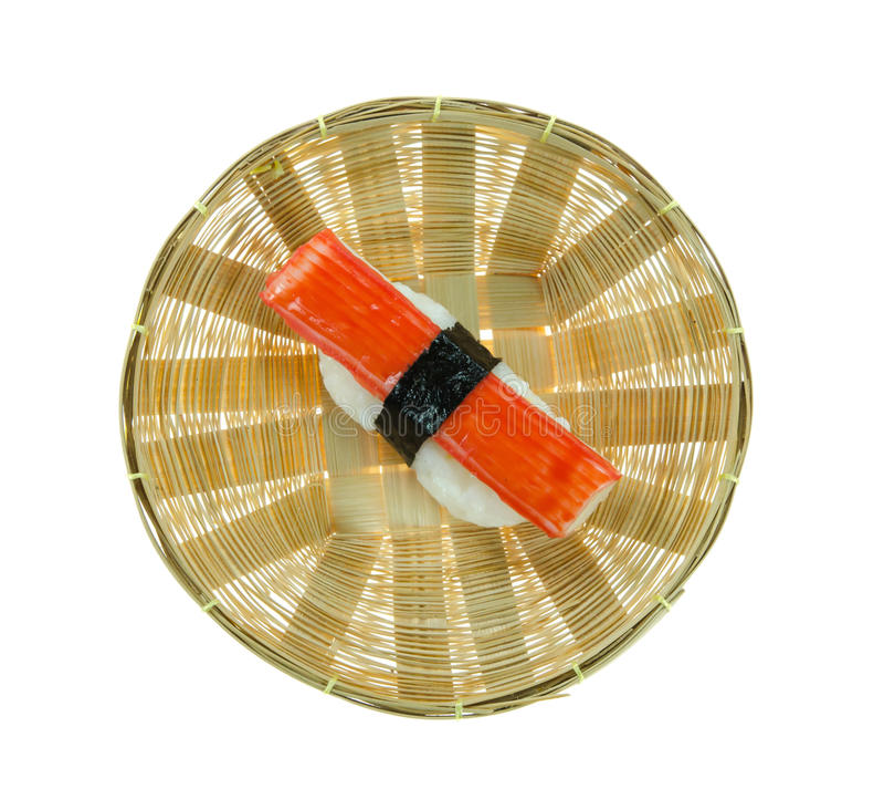 De sushi van krabstokken royalty-vrije stock foto