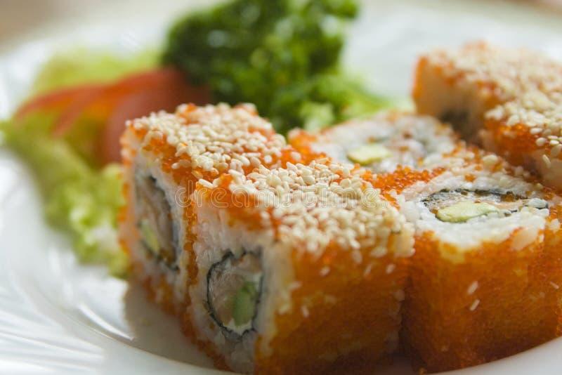De sushi van Maki stock afbeeldingen
