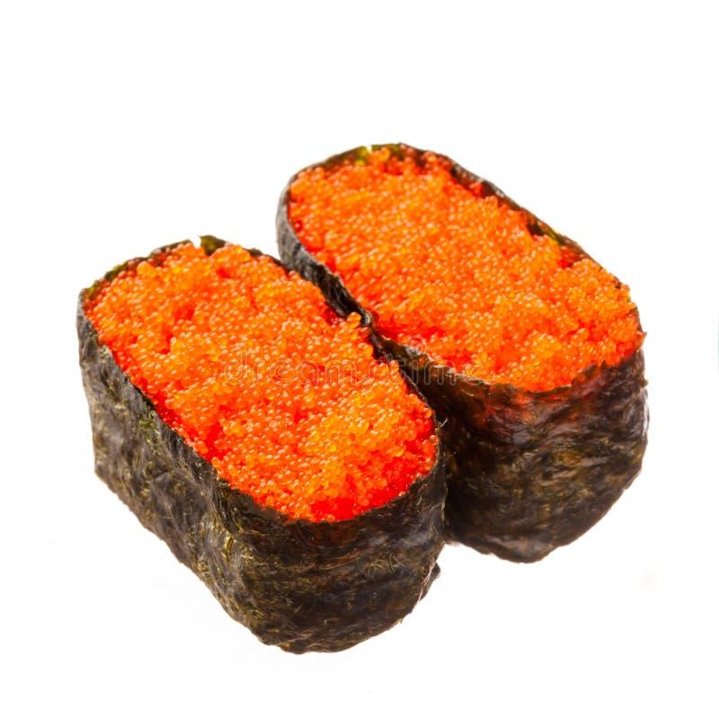 De sushi van Tobiko stock afbeeldingen