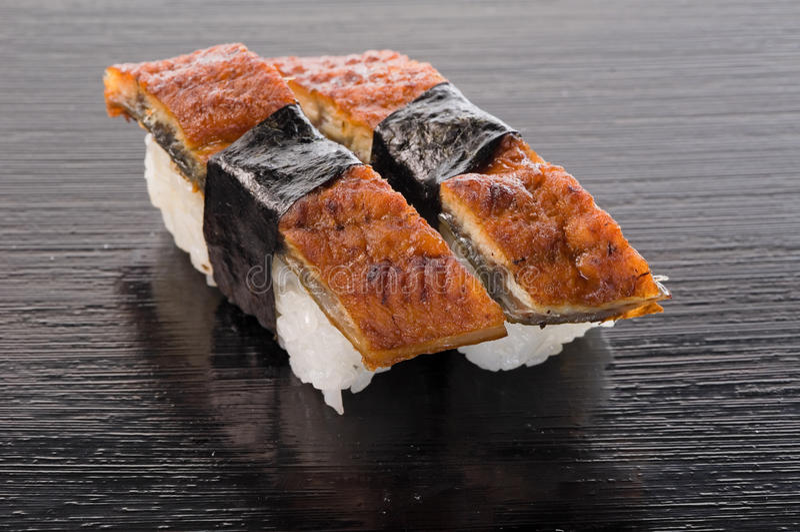 De Sushi van Unagi royalty-vrije stock foto's