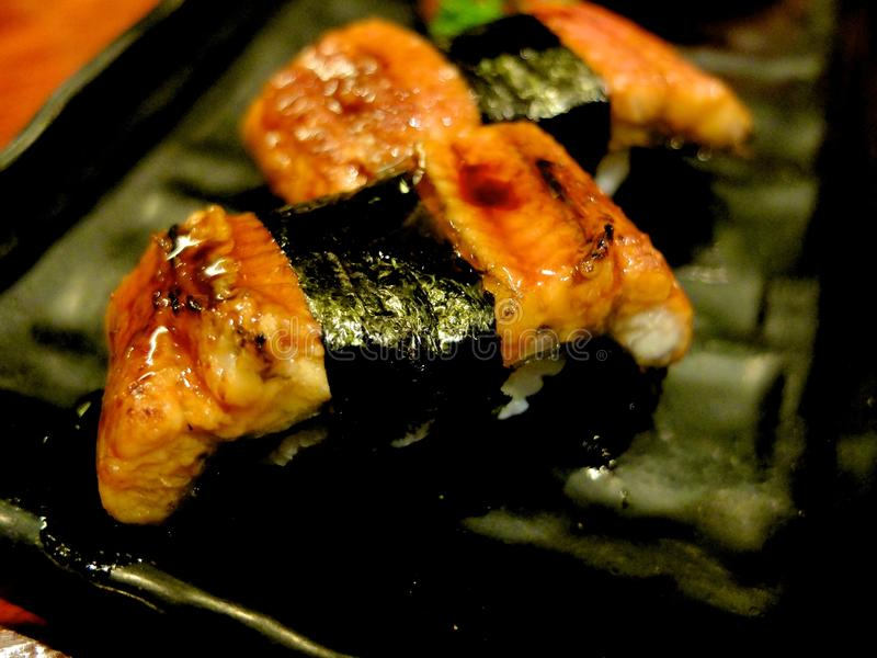 De sushi van Unagi royalty-vrije stock foto