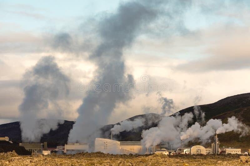 IS de Svartsengi Geothermische Elektrische centrale IJsland de EU stock afbeeldingen