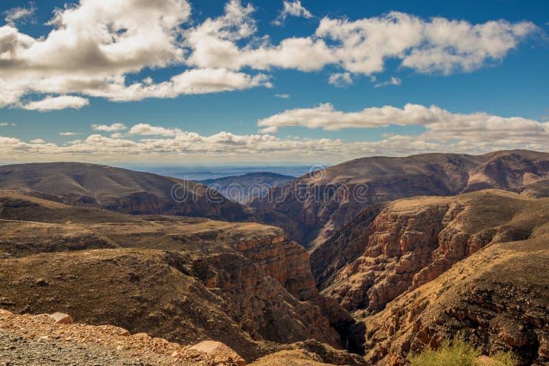 De Swartberg-Pas in het Karoo-gebied van Zuid-Afrika royalty-vrije stock foto
