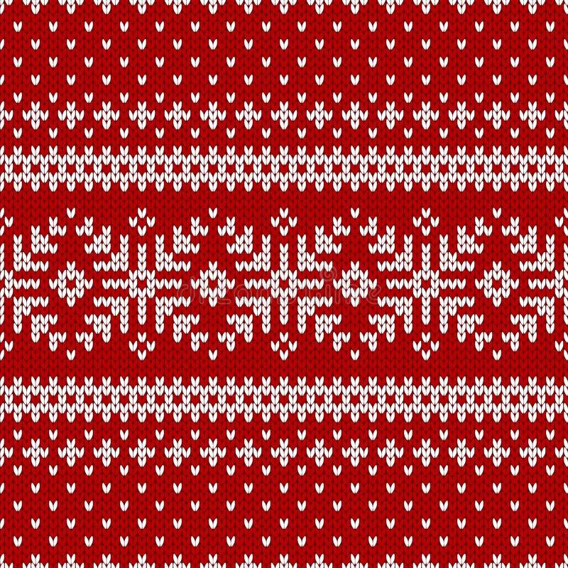 De sweater van de winterkerstmis van fairisleontwerp vector illustratie