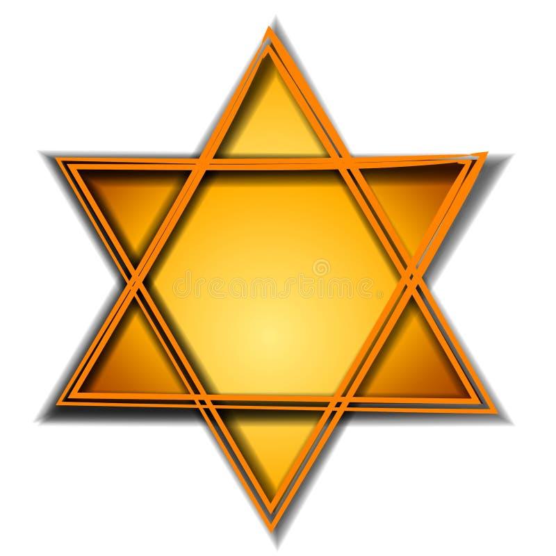 Or de symbole de signe de Hexagram illustration de vecteur