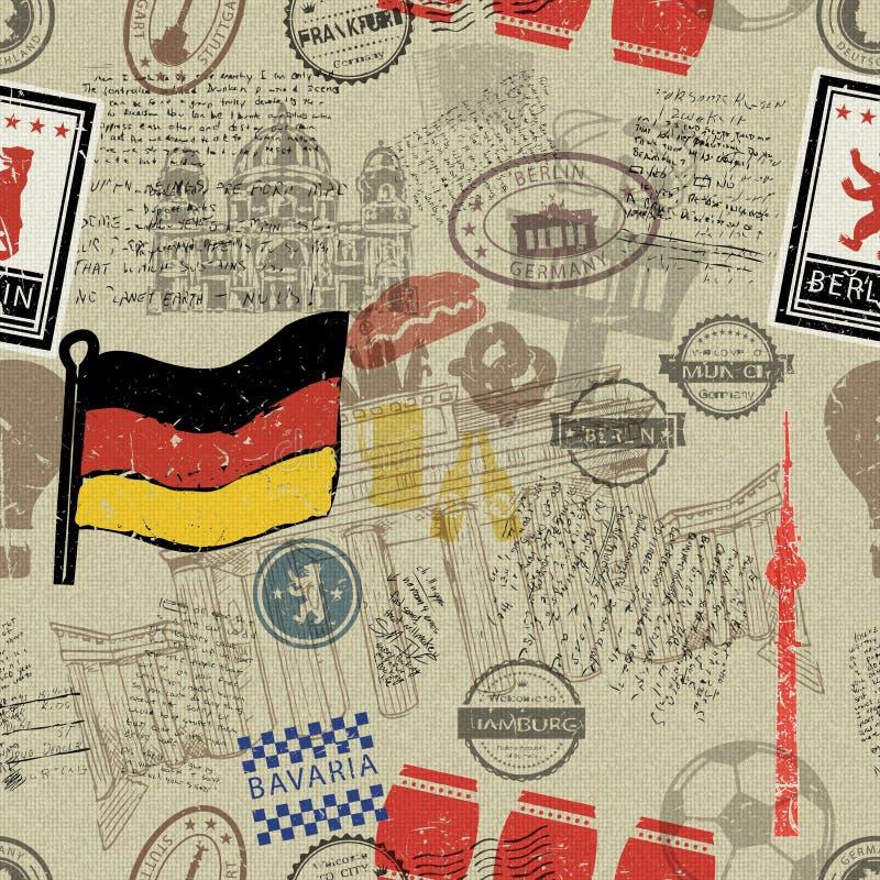 De symbolen of de pictogrammen van Duitsland vector illustratie