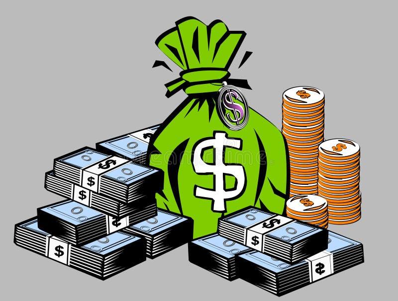 De symbolen van de dollar stock illustratie