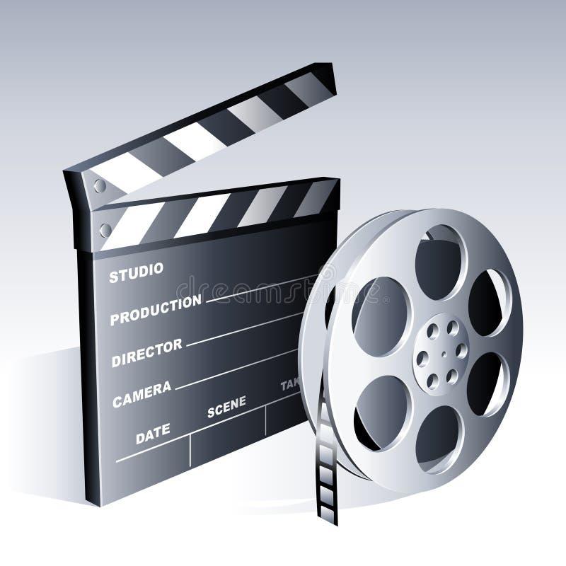 De symbolen van de film. stock illustratie