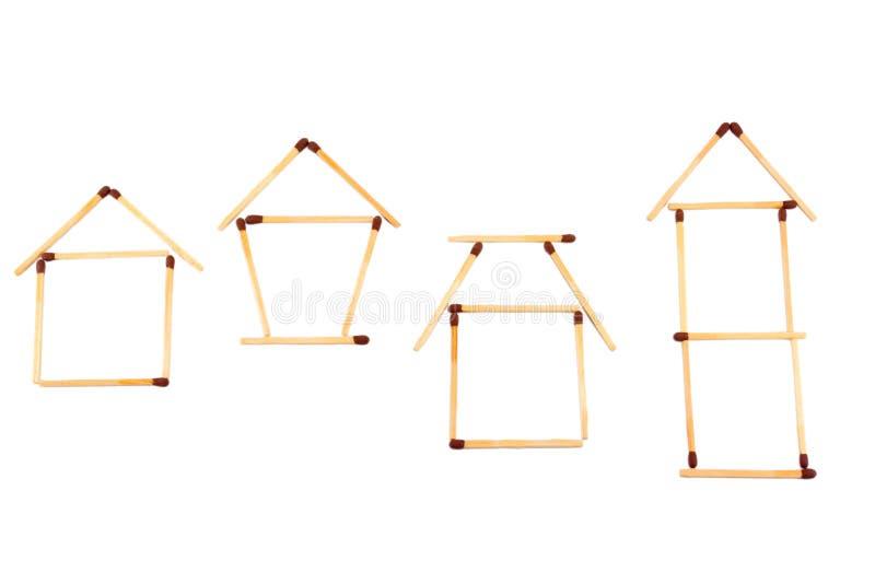 De symbolen van de huisvesting stock foto's