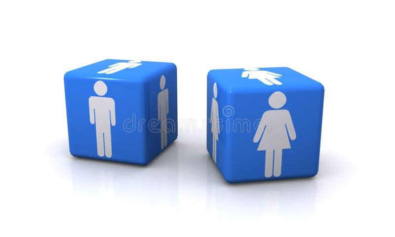 De Symbolen van de man en van de Vrouw   stock illustratie