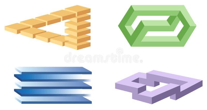 De symbolen van de optische illusie royalty-vrije illustratie