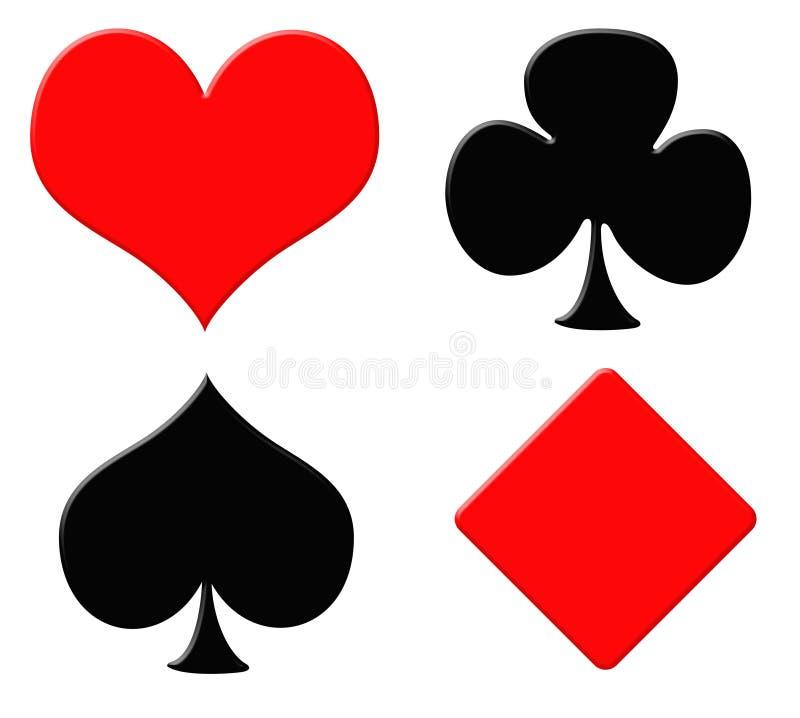 De symbolen van de speelkaart royalty-vrije illustratie