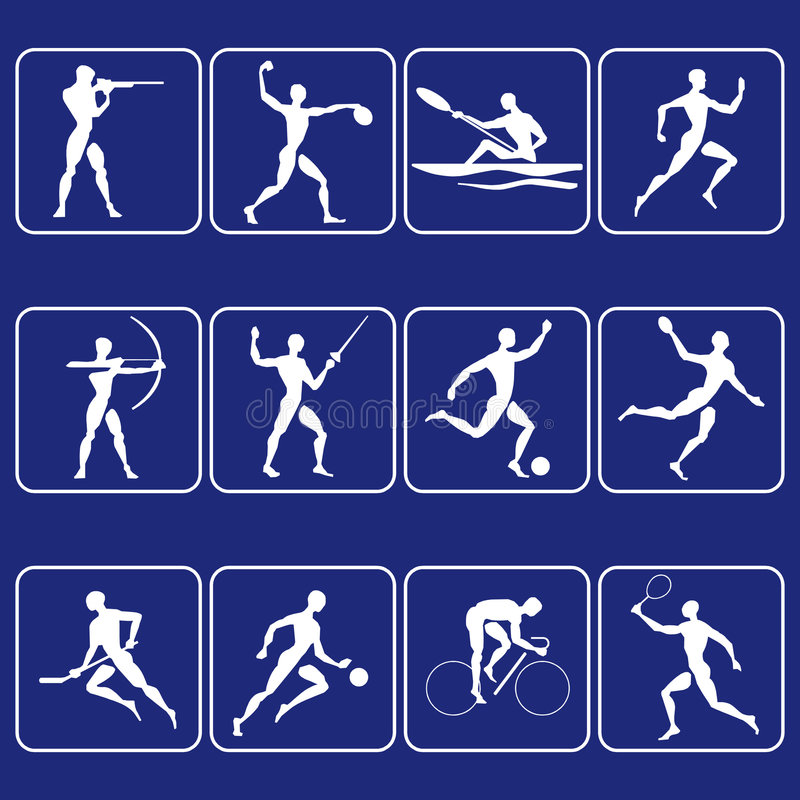 De symbolen van de sport royalty-vrije illustratie