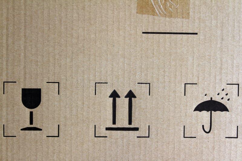 De symbolen van de vracht vector illustratie