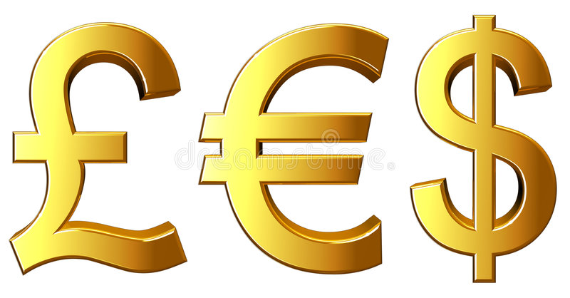 De Symbolen van het geld stock illustratie