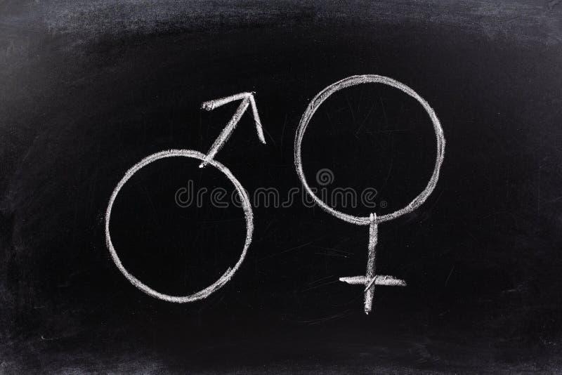 De Symbolen van het geslacht stock fotografie