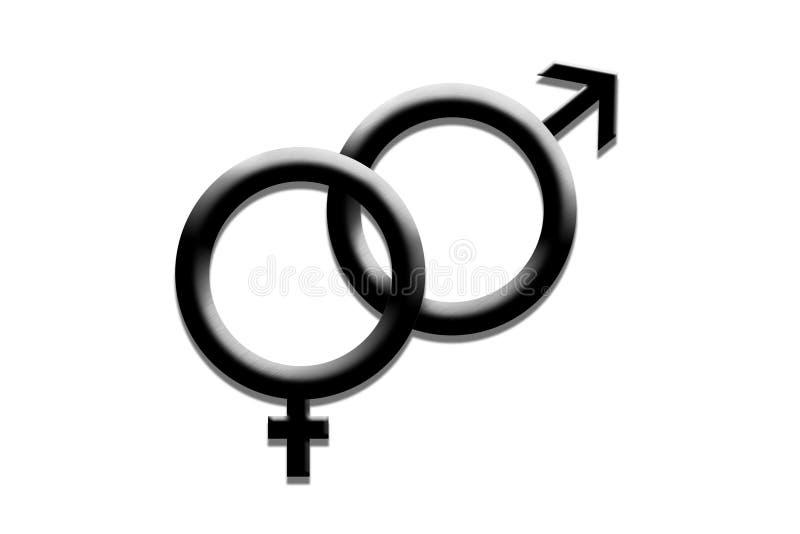 De symbolen van het geslacht royalty-vrije illustratie