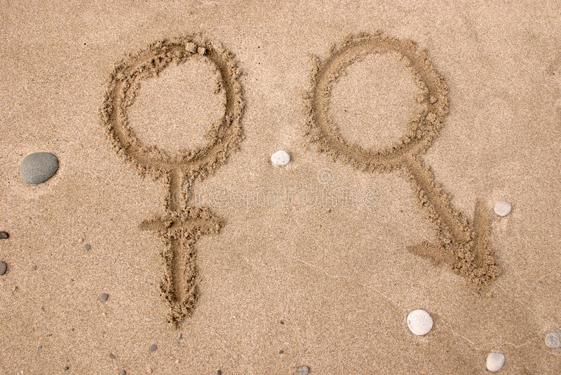 De symbolen van het geslacht royalty-vrije stock afbeeldingen