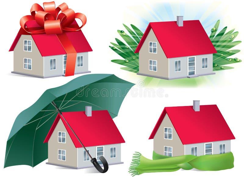De symbolen van het huis vector illustratie