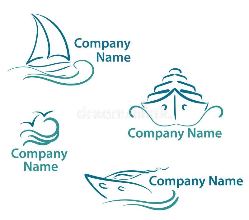 De symbolen van het jacht royalty-vrije illustratie