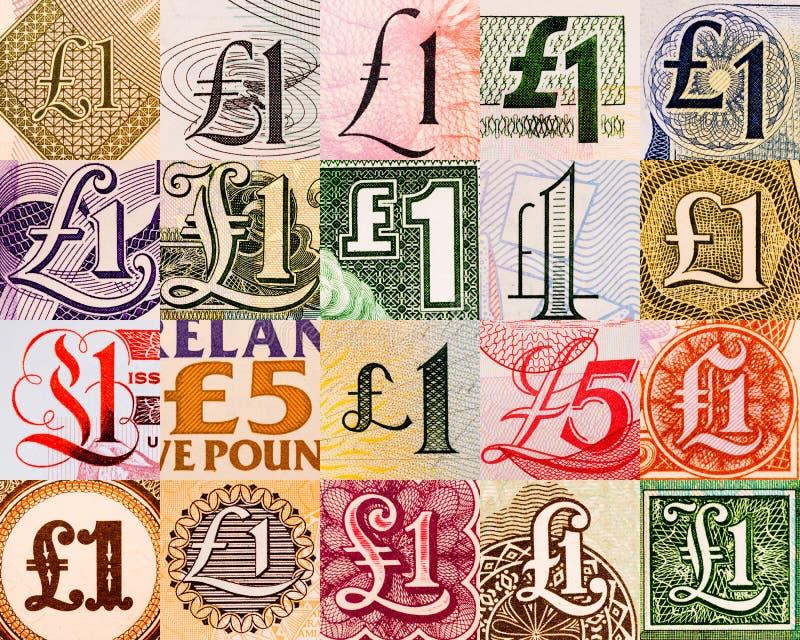 De symbolen van het pond van overal ter wereld royalty-vrije stock afbeelding