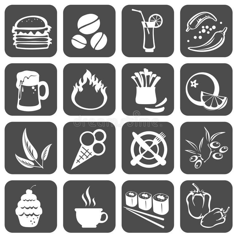 De symbolen van het voedsel royalty-vrije illustratie