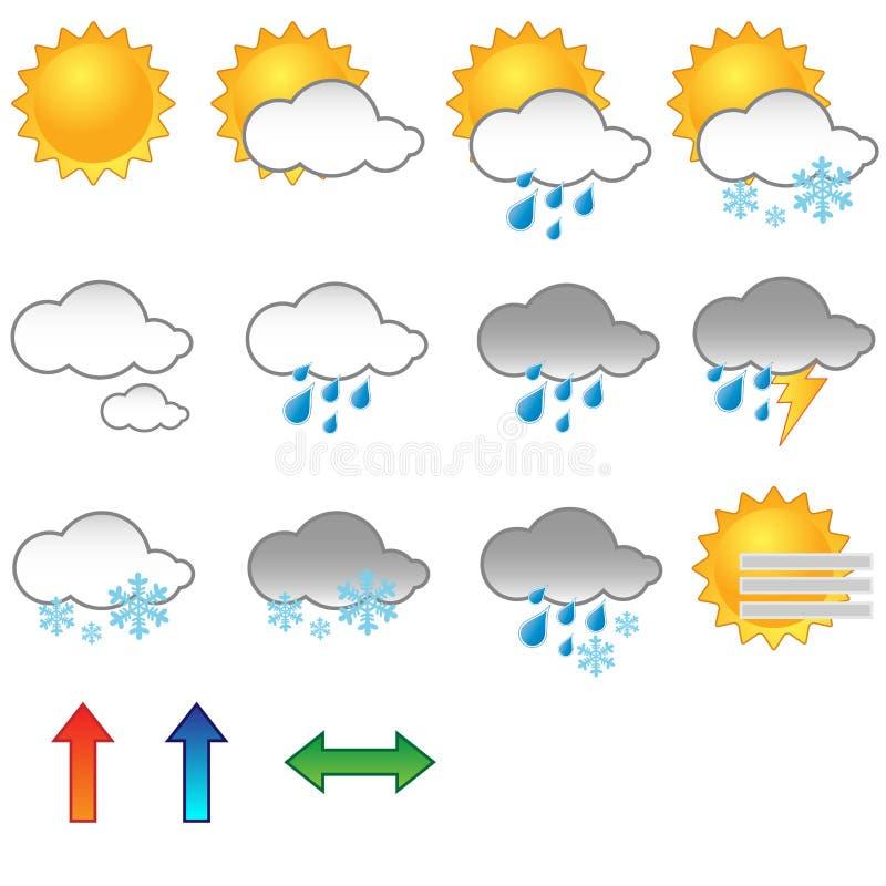 De symbolen van het weer stock illustratie