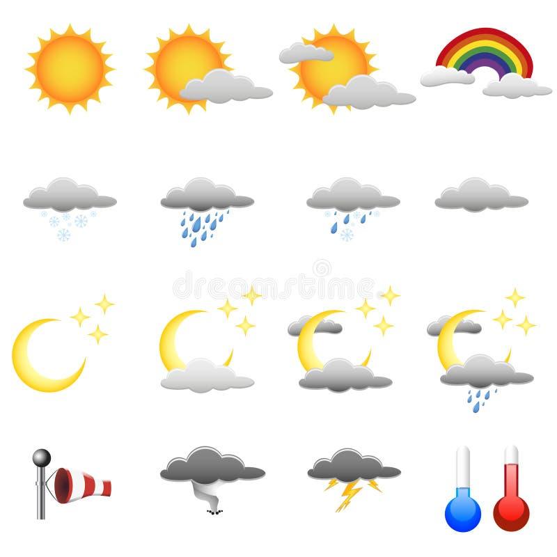 De symbolen van het weer royalty-vrije illustratie