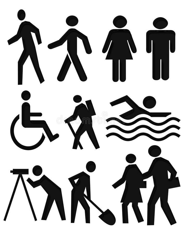De symbolen van mensen royalty-vrije stock foto