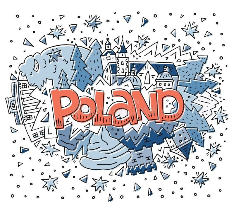 De symbolen vectorillustratie van Polen royalty-vrije illustratie