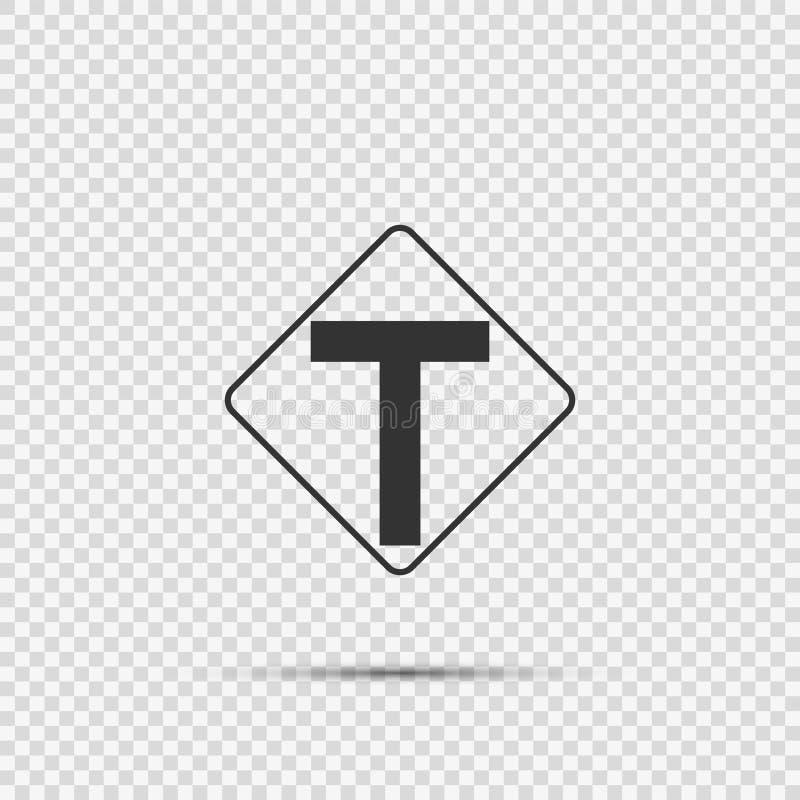 De symboolverbinding vooruit, wordt de belangrijkste kruising t-gevormd teken op transparante achtergrond stock illustratie