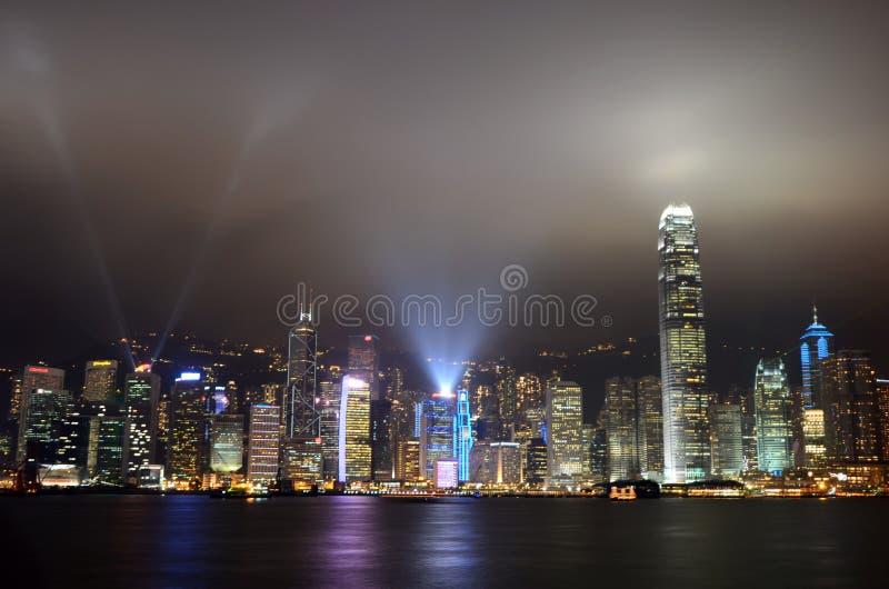 De Symfonie van Hongkong van Lichten stock fotografie