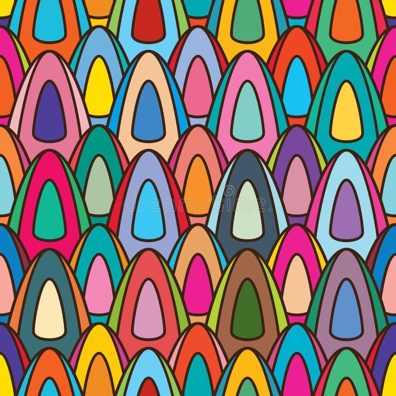 De symmetrie naadloos patroon van de roomijsstok vector illustratie