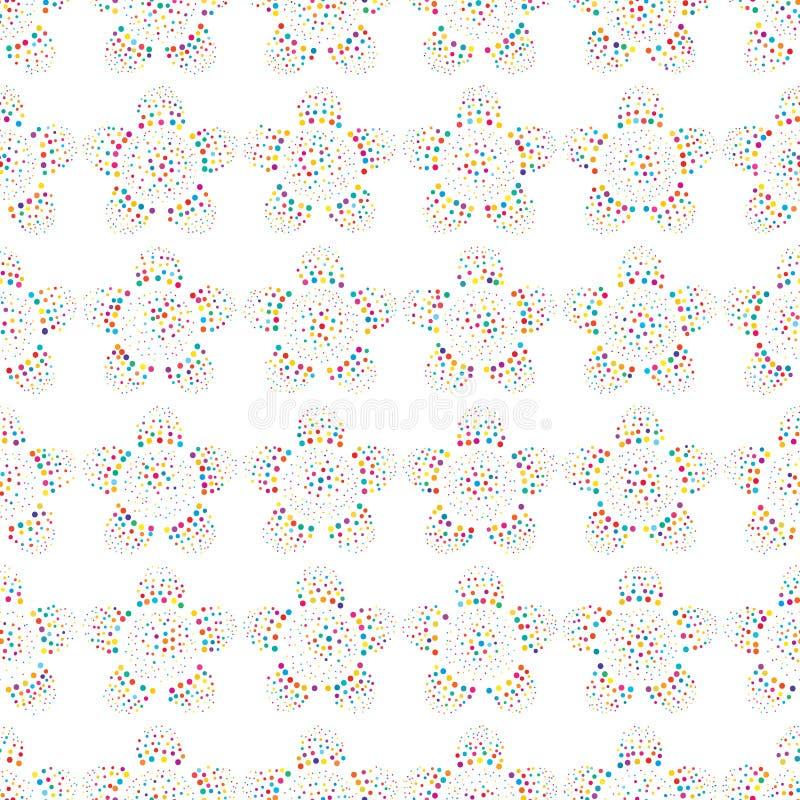 De symmetrie naadloos patroon van de punt kleurrijk bloem stock illustratie