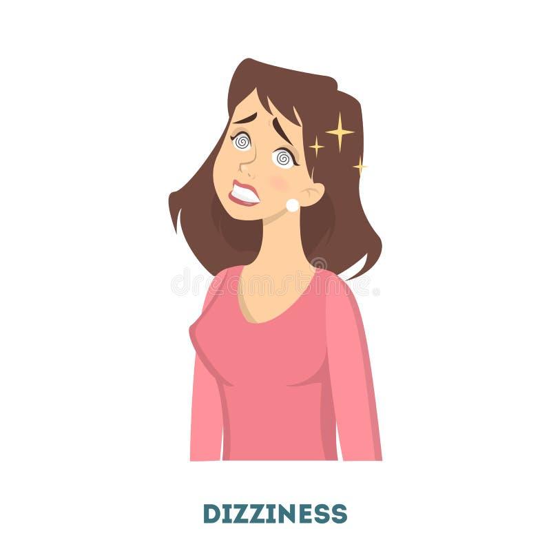 De symptomen van de vrouwendiabetes vector illustratie