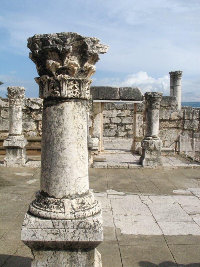De synagoge van Capernaum stock afbeelding