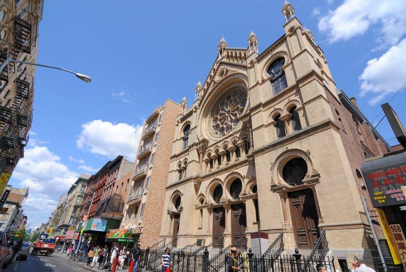 De Synagoge van de Stad van New York royalty-vrije stock afbeelding