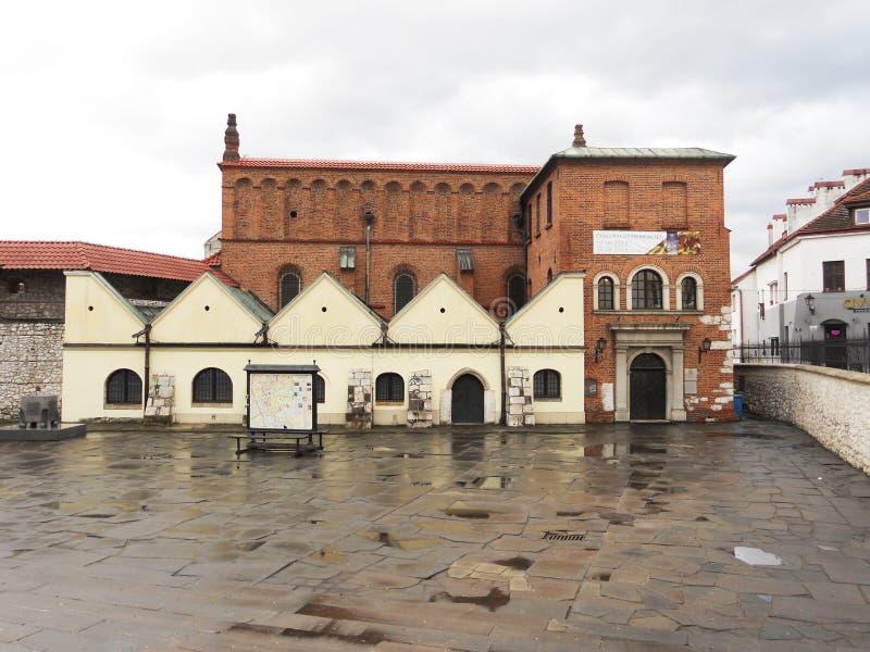 De synagoge van Krakau stock foto's