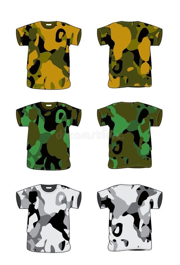 De t-shirt van de camouflage royalty-vrije illustratie