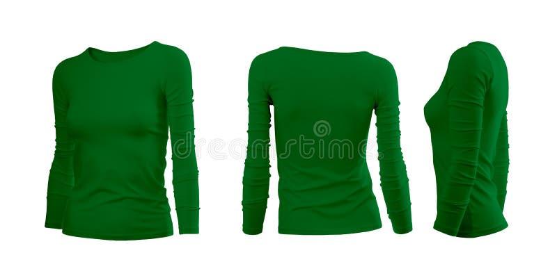 De T-shirt van de groene vrouw royalty-vrije stock afbeeldingen