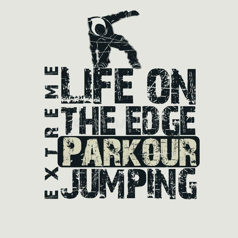 De t-shirt van het Parkourconcept stock illustratie