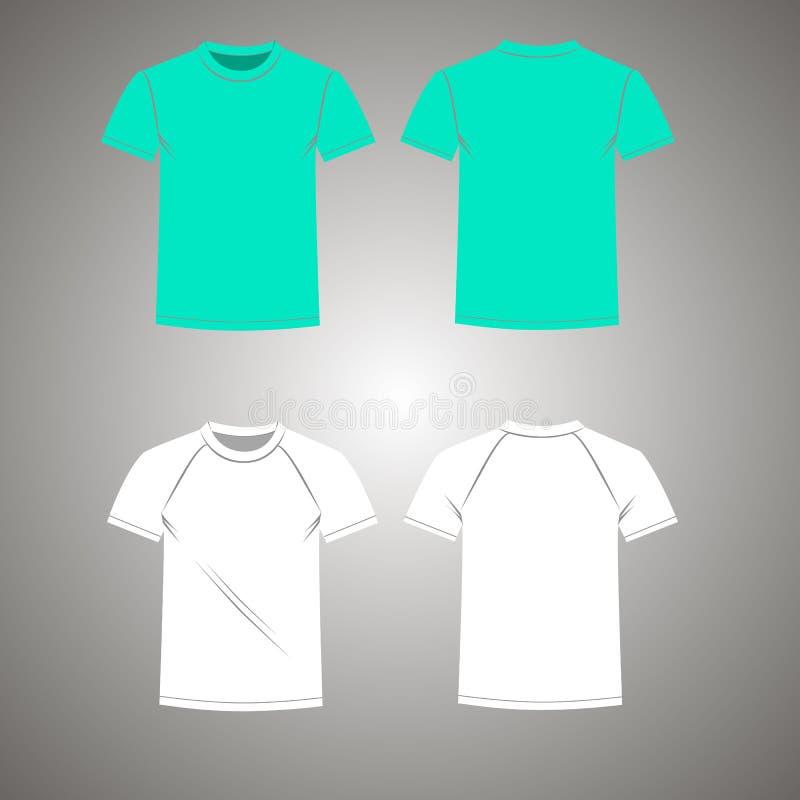 De T-shirt vastgestelde voor van mensen en royalty-vrije illustratie