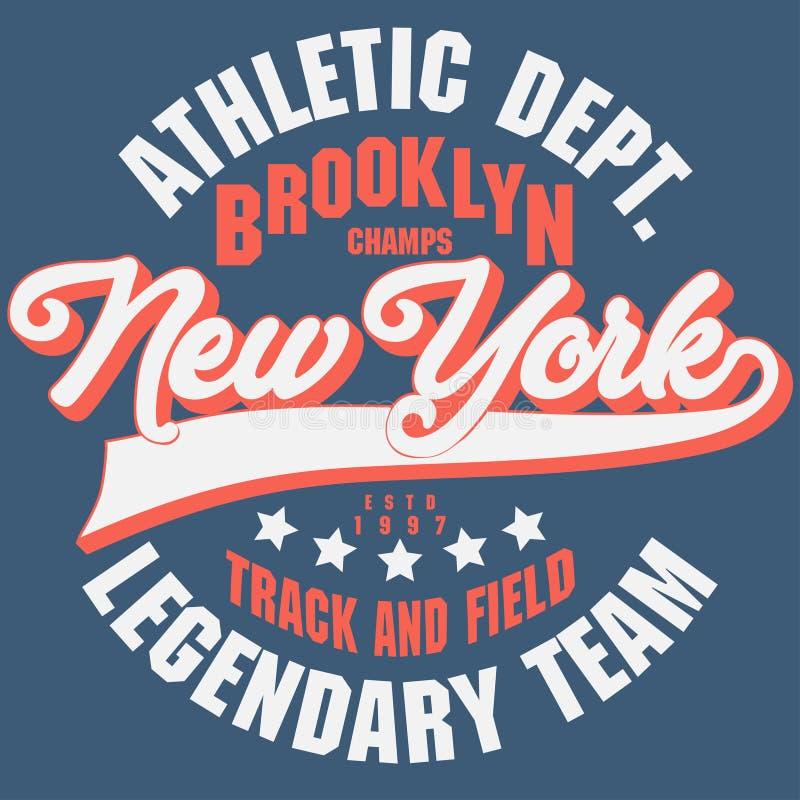 De t-shirtgrafiek van Brooklyn royalty-vrije illustratie