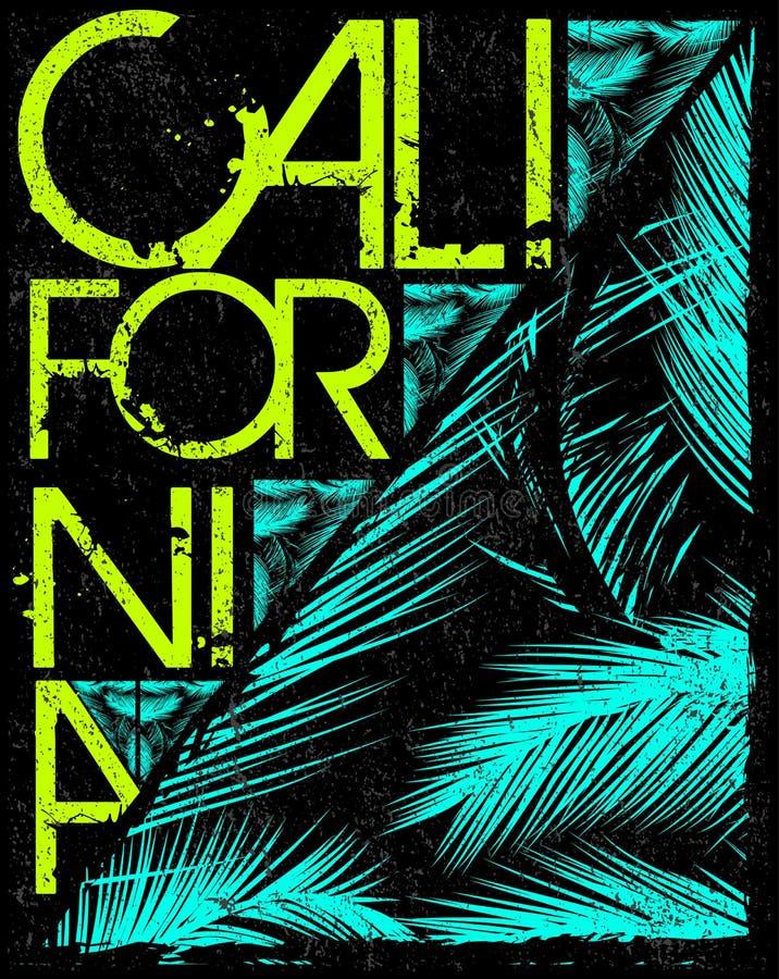 De t-shirtgrafiek van Los Angeles Californië Vector graphhics vector illustratie
